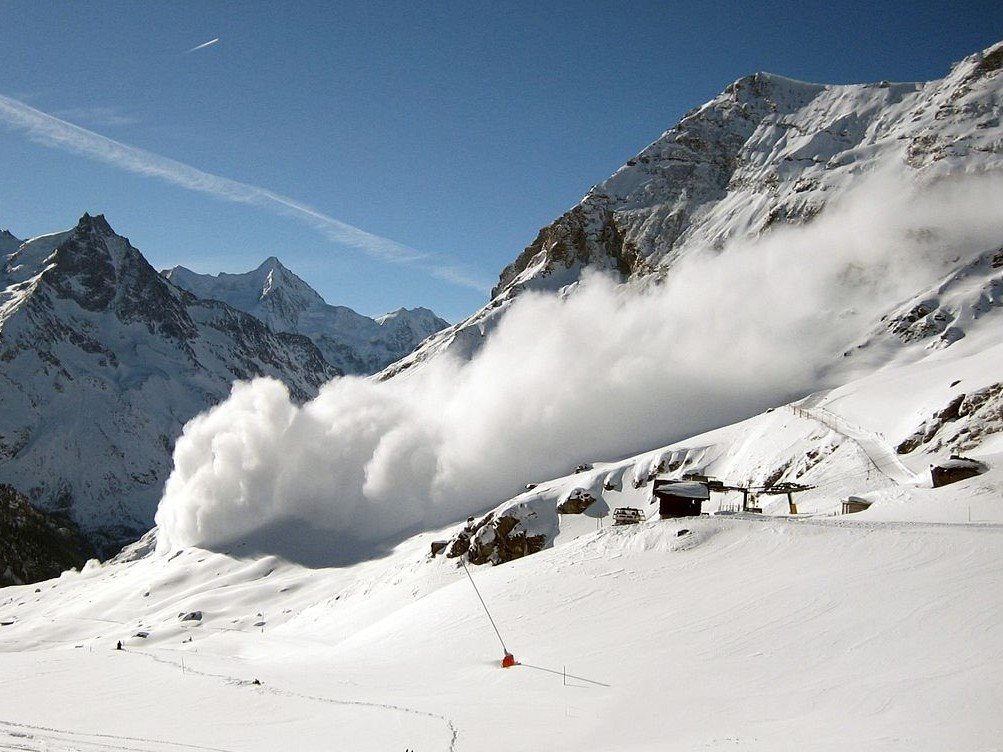 An image of a snow avalanche referring to how bankruptcy is an avalanche in slow motion